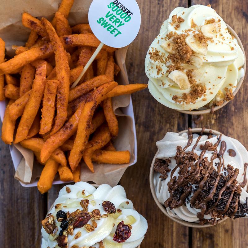 Γλυκοπατάτες και παγωτά! Τα γλυκά του Burger AP!