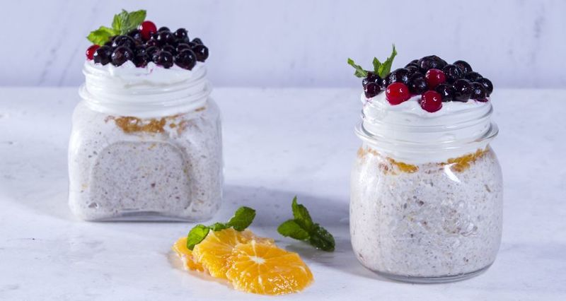 Homemade muesli with oats oranges and berries by the Greek chef Akis Petretzikis