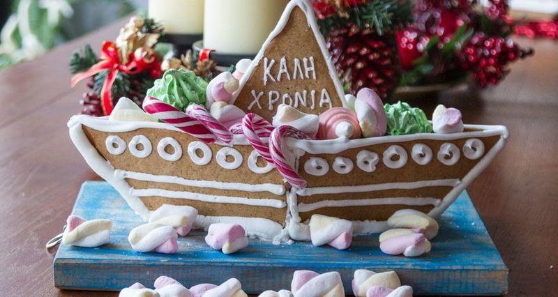 Χριστουγεννιάτικο καράβι από τον Άκη Πετρετζίκη