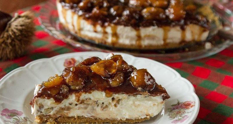 Cheesecake κάστανο από τον Άκη Πετρετζίκη
