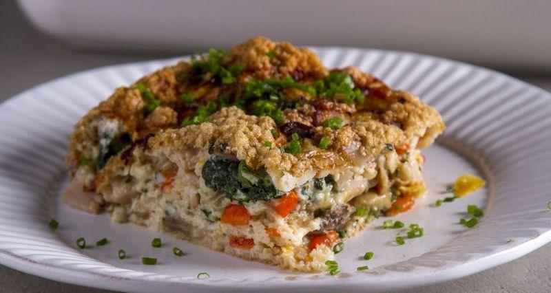 Ομελέτα φούρνου με ασπράδια από τον Άκη Πετρετζίκη