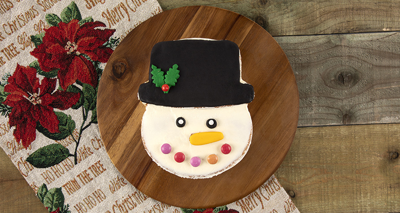 Snowman cake by Akis Petretzikis