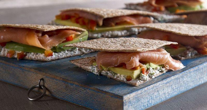 Salmon avocado whole-wheat quesadillas by the Greek chef Akis Petretzikis