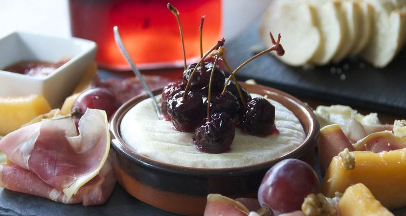 Pickled cherries by the Greek chef Akis Petretzikis