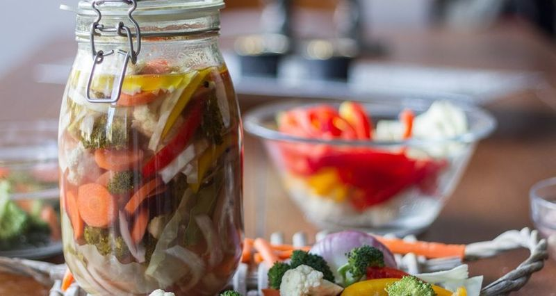 Pickled vegetables by the Greek chef Akis Petretzikis