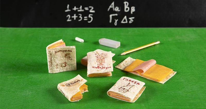 School book tortilla sandwiches by the Greek chef Akis Petretzikis