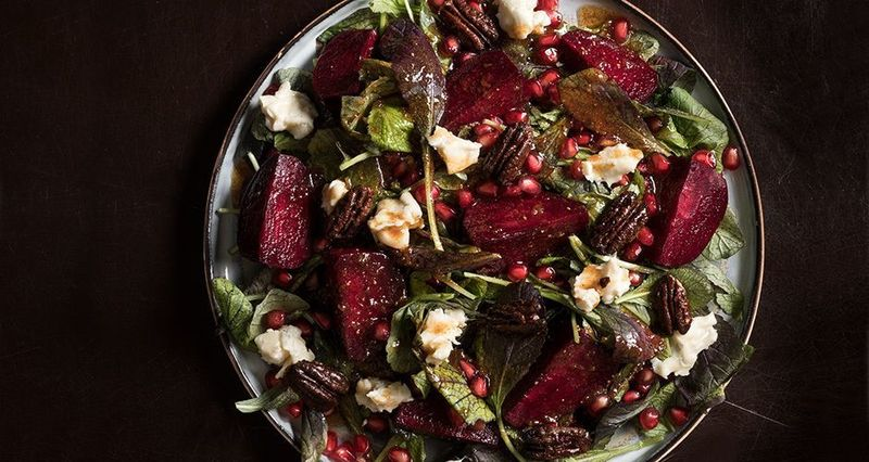 Winter beet and pomegranate salad by the Greek chef Akis Petretzikis