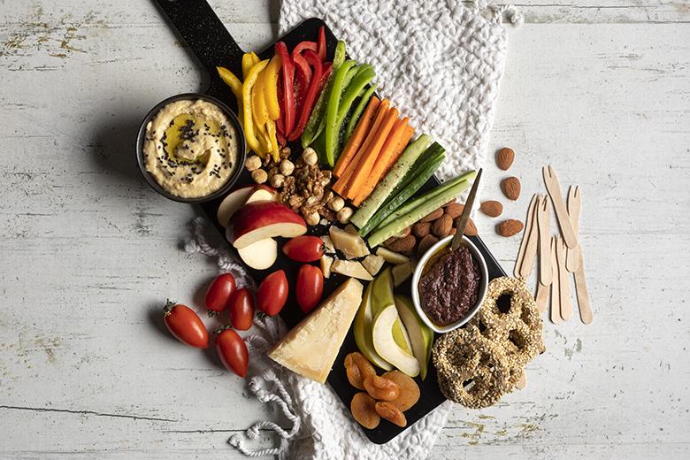 The vegetarian platter by the Greek chef Akis Petretzikis