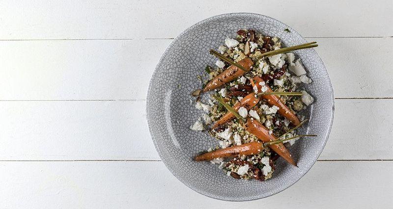 Mediterranean millet salad by the Greek chef Akis Petretzikis