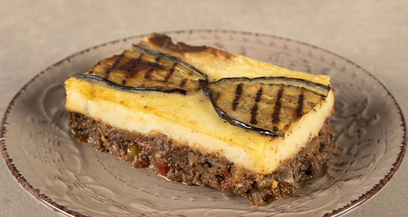 Vegan moussaka by the Greek chef Akis Petretzikis