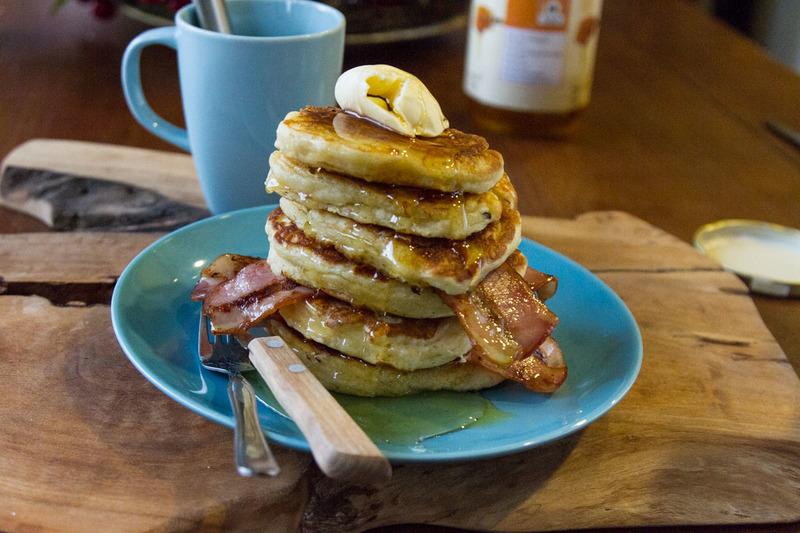 Pancakes με μπέικον