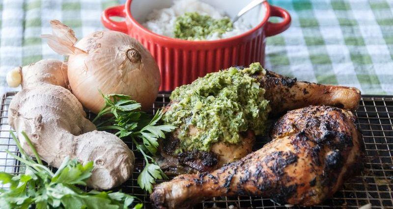 Ινδικό κοτόπουλο με πικάντικη σάλτσα