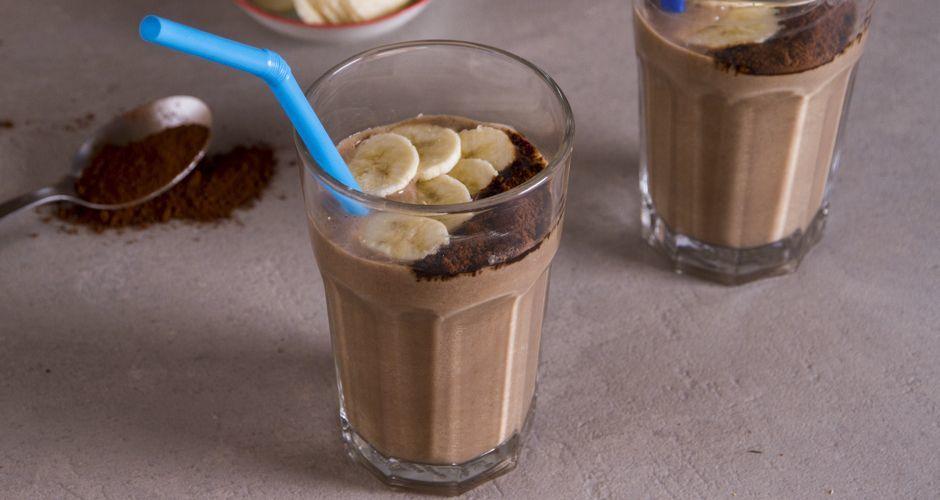 Smoothie με μπανάνα και καφέ