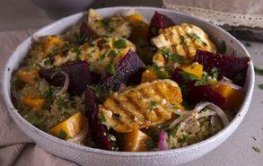 Recipe thumb akis petretzikis salata quinoa patzari haloumi site