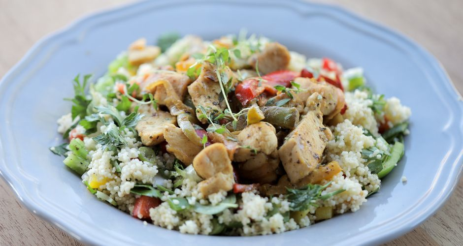 Greek Stir Fry Chicken - Tigania