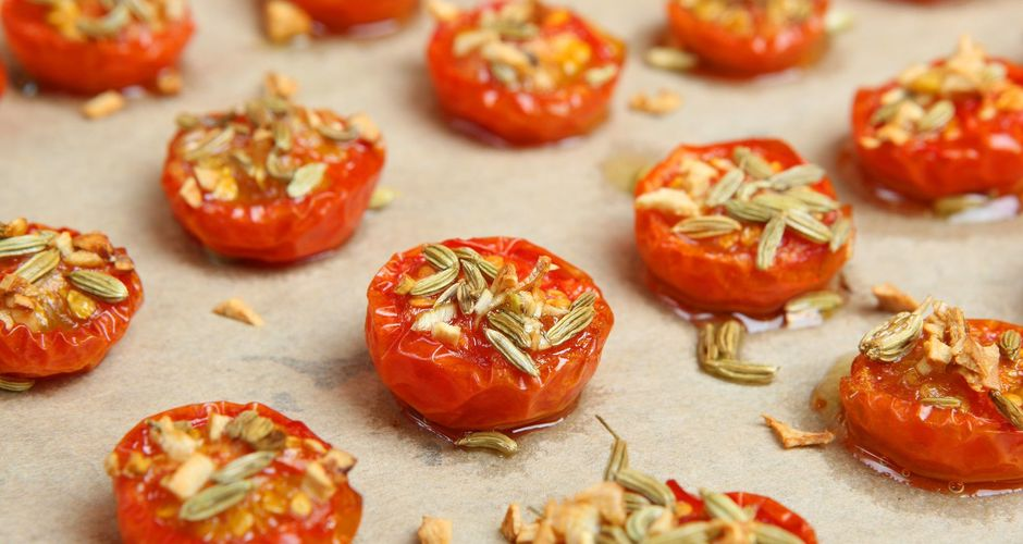 Roasted Cherry Tomatoes with Fennel Seeds