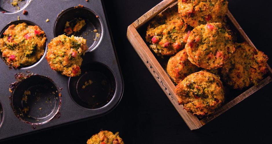 Quinoa broccoli and cheese mini muffins