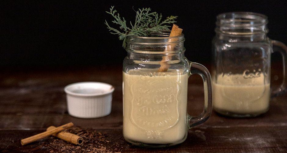 Eggnog με γάλα καρύδας