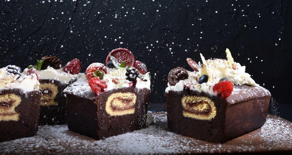 Chocolate and vanilla pound cake