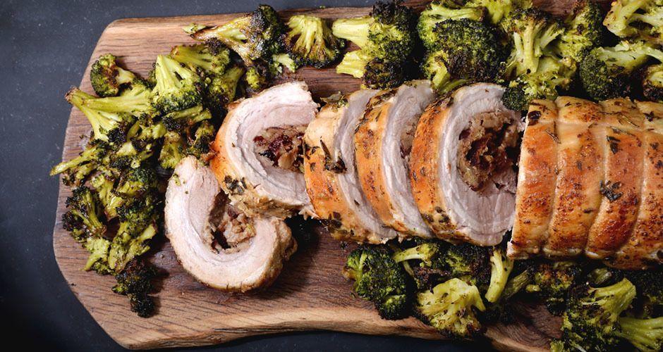 Roast stuffed pork