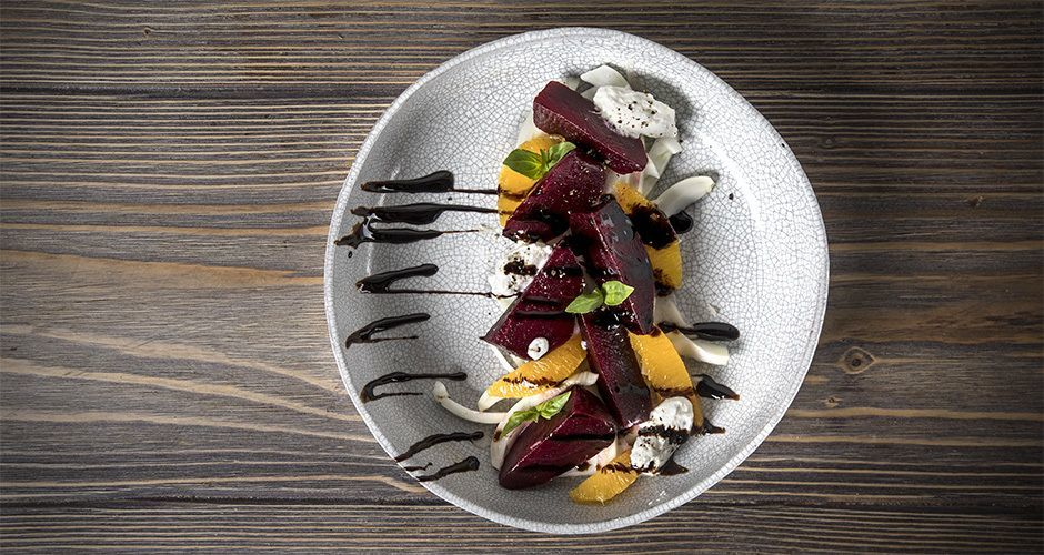 Beetroot, fennel and ricotta salad