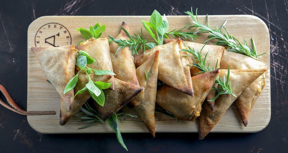 Greek cheese pies with whole wheat phyllo - Tiropitakia