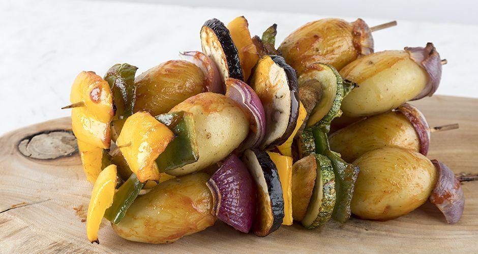 Vegetable souvlaki