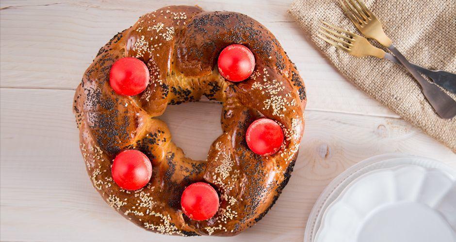 Easy Greek sweet bread - Tsoureki
