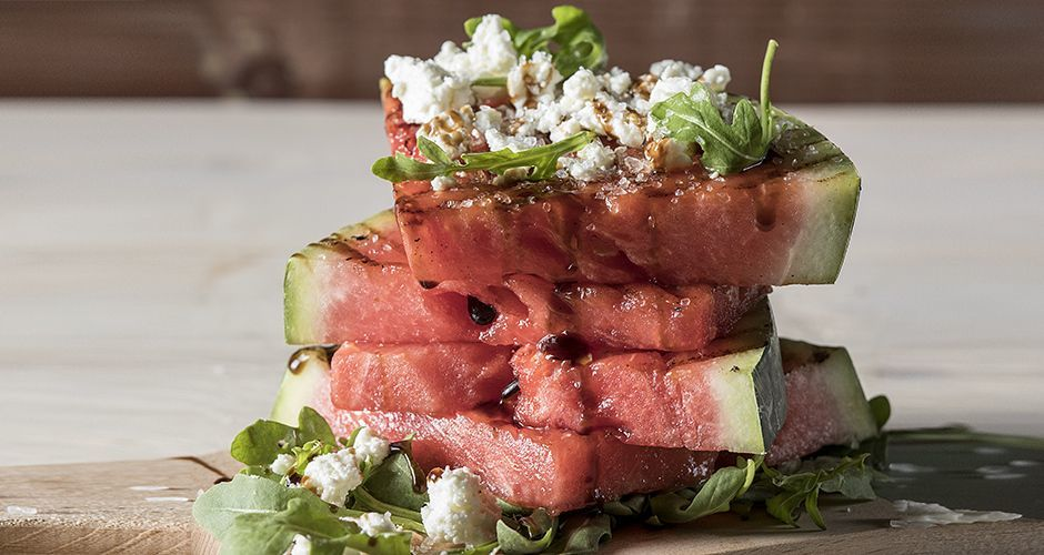 Watermelon with feta cheese