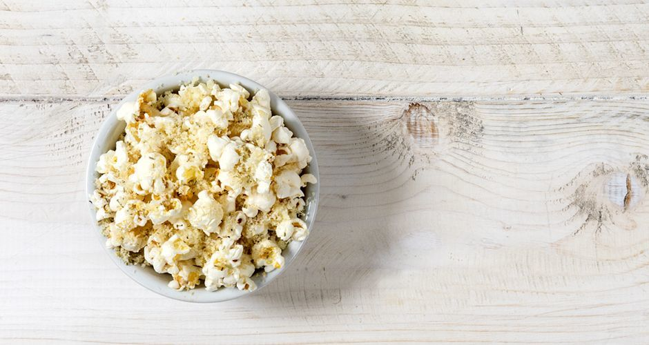 Popcorn with rosemary and gruyere