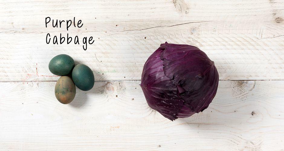 Πασχαλινά αβγά με κόκκινο λάχανο