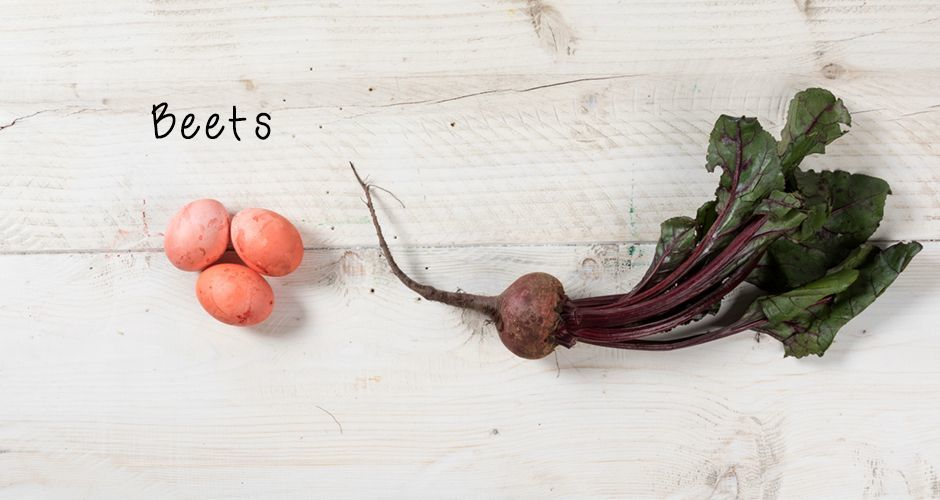 Easter egg dye with beetroots