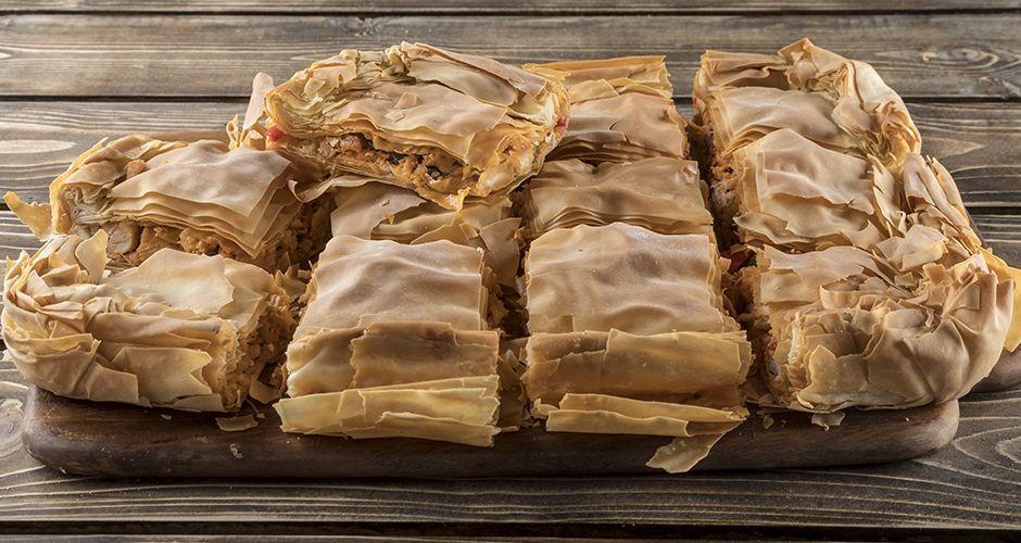 Greek rustique chicken pie