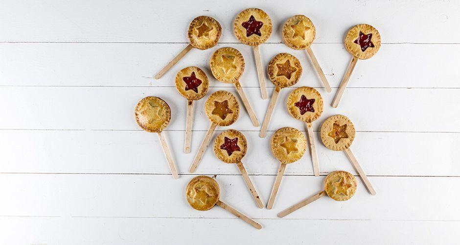 Jam pies on a stick