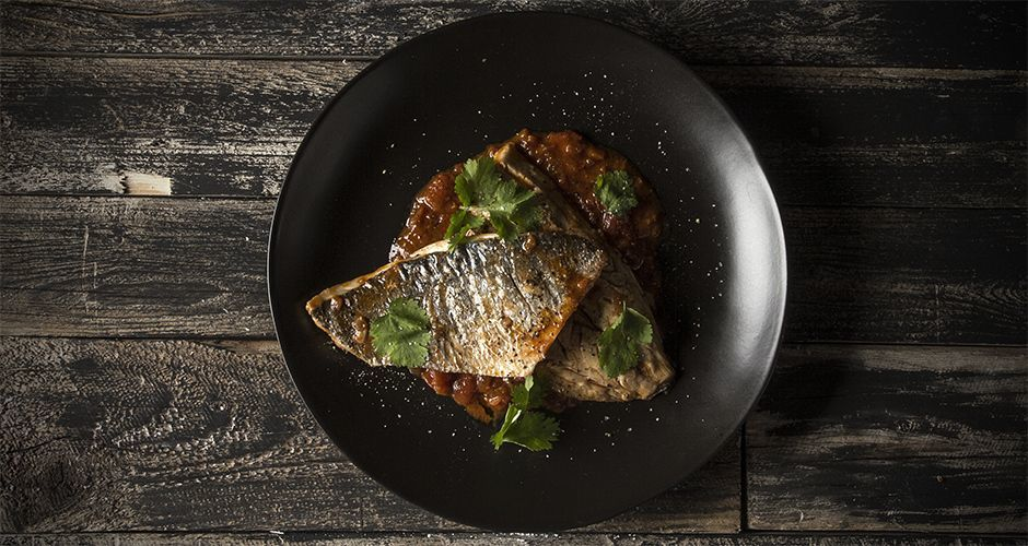 Bream with tomato sauce