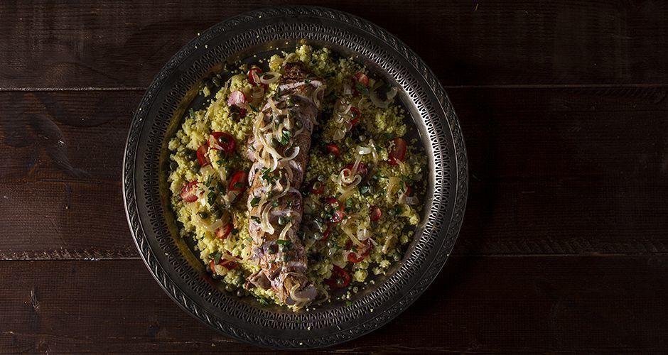 Τenderloin with couscous