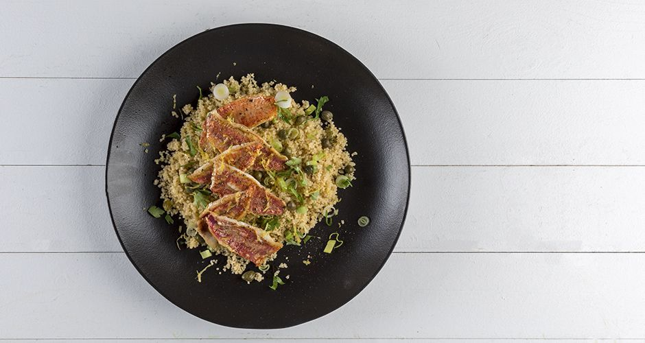 Red mullet with couscous