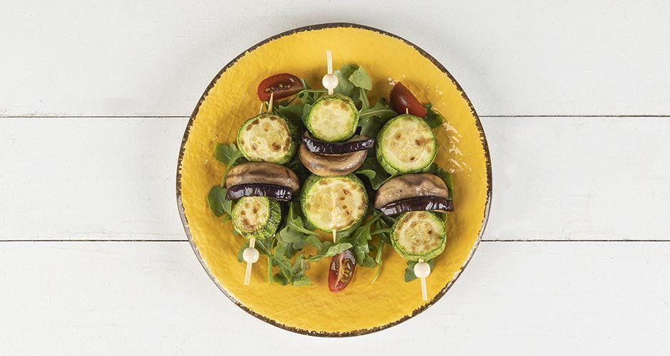 3-vegetable souvlaki