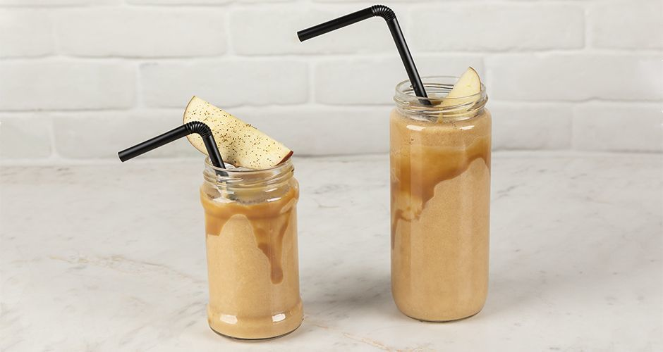 Apple and caramel smoothie