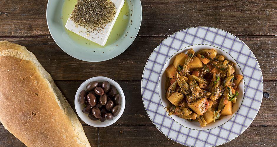 Greek okra stew