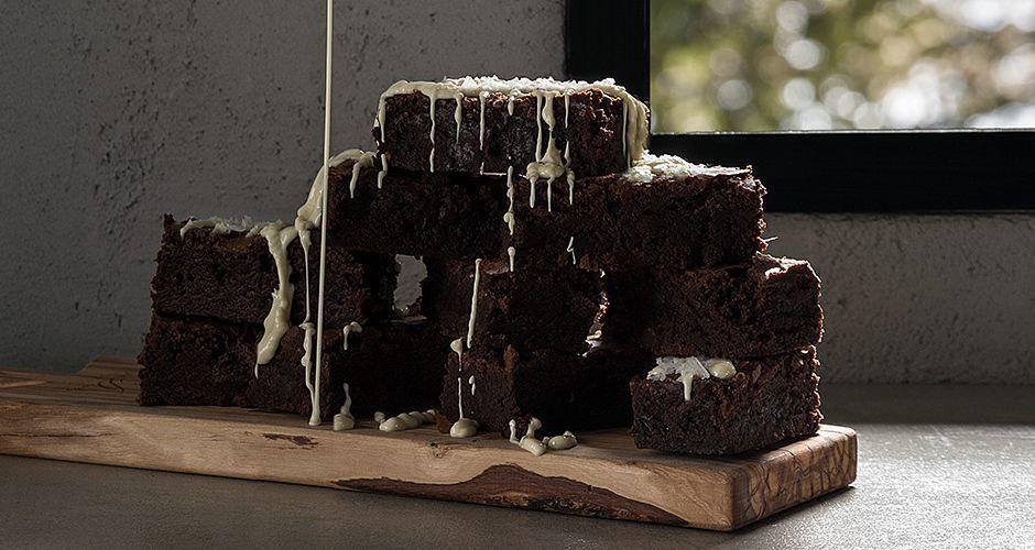Sea salt chocolate brownies
