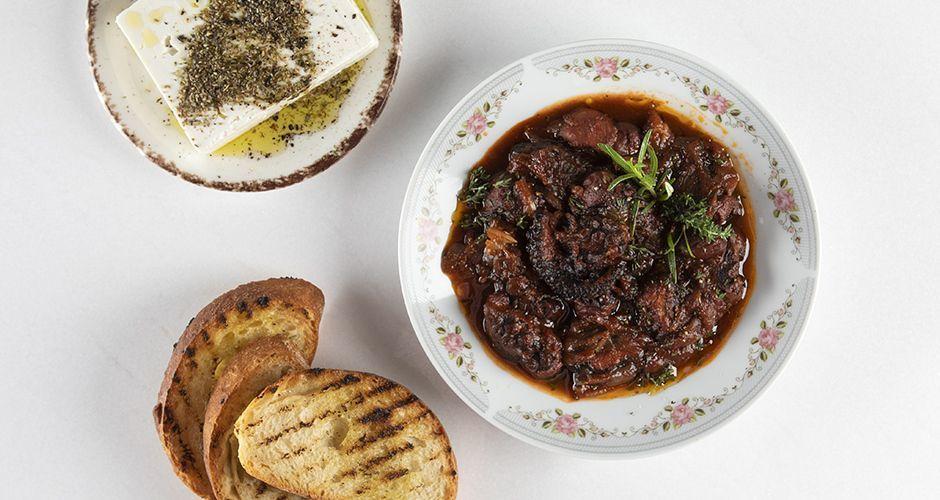 Pressure-cooker octopus stew - Stifado