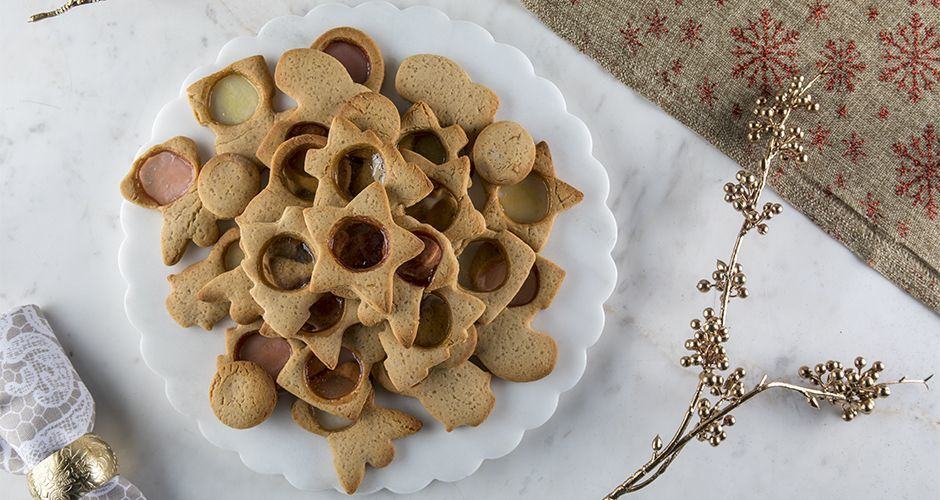 Gummy candy Christmas cookies