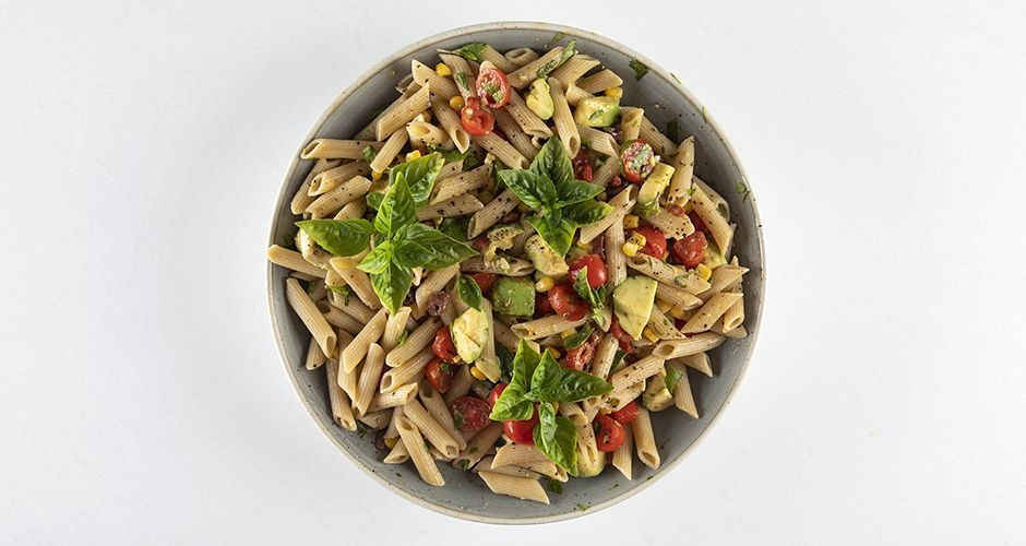 Healthy penne pasta salad (High protein)