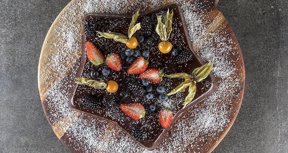 Chocolate coconut star cake