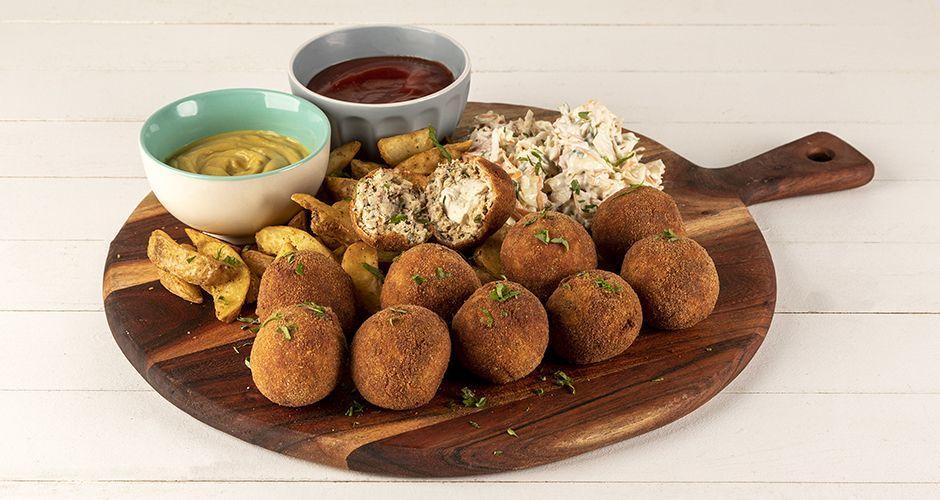 Stuffed chicken meatballs