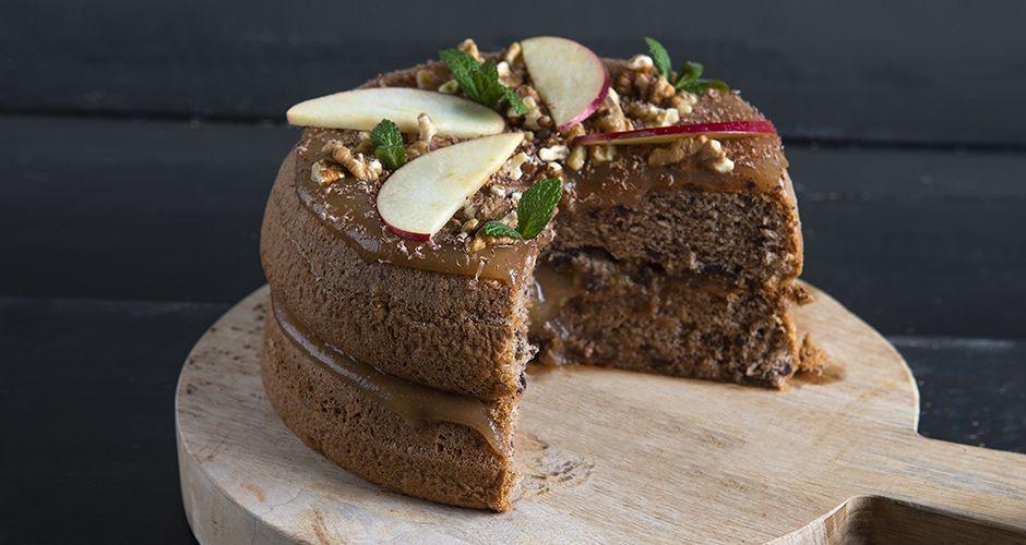 Chocolate and apple jam cake