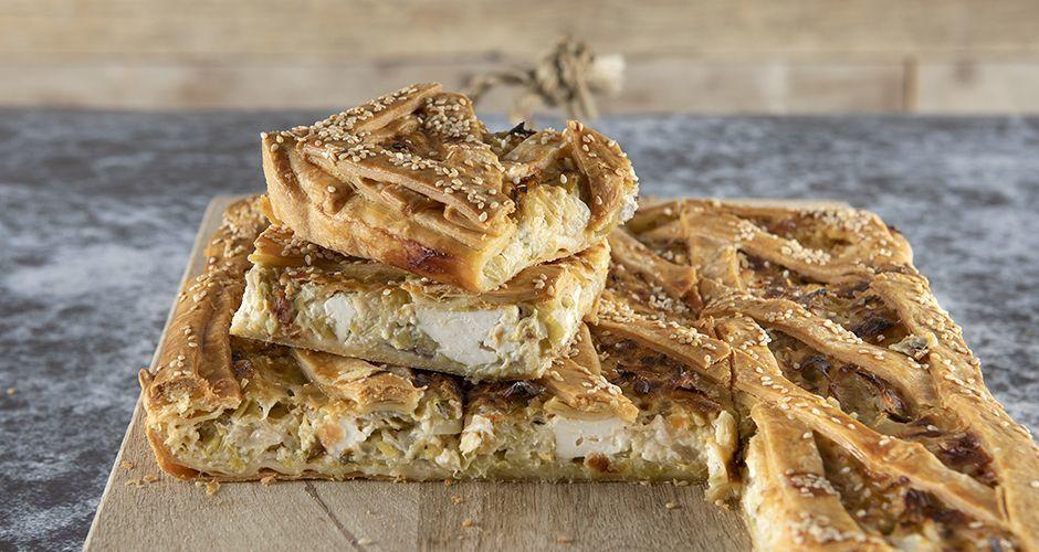 Greek leek and cheese pie