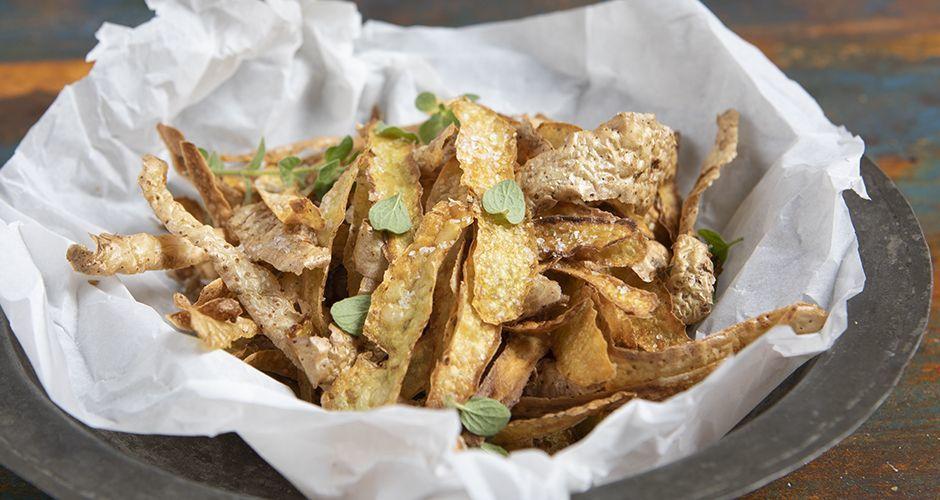 Τσιπς από φλούδες πατάτας