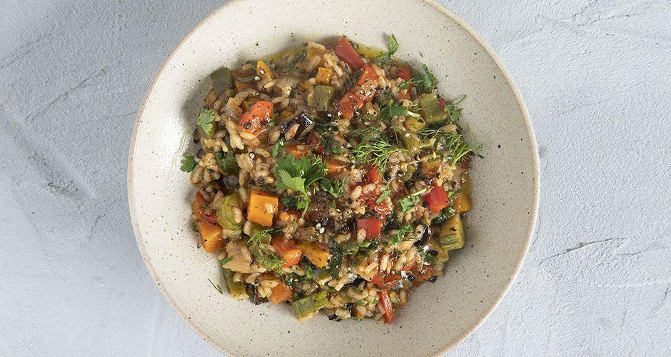 Vegetable vegan risotto